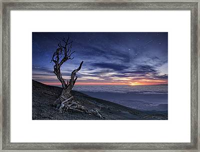 Beyond The Sky Framed Print by Andrea Auf Dem Brinke