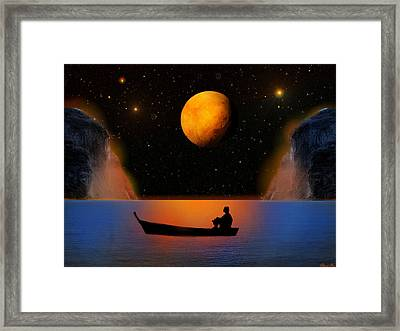 Framed Print featuring the photograph Beyond The Stars by Bernd Hau