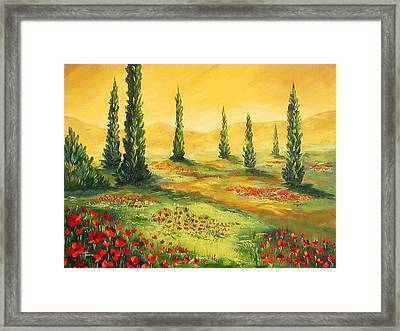 Beyond The Tuscan Sun  Framed Print by Torrie Smiley