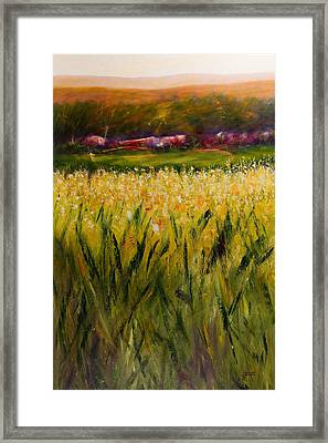 Beyond The Valley Framed Print by Shannon Grissom