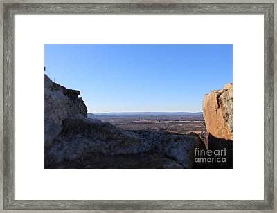 Beyond The Wall Framed Print