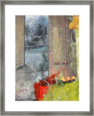 Beyond The Window Framed Print by Gail Butters Cohen