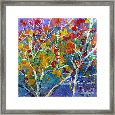 Beyond The Woods - Orange Framed Print