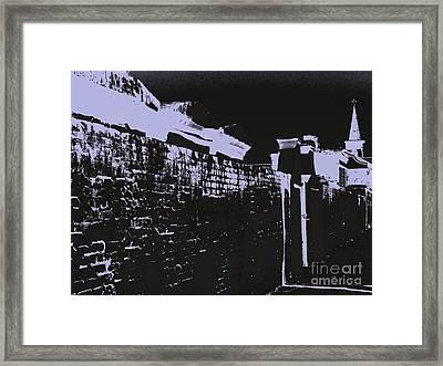 Beyond The Cemetery Wall Framed Print by JoNeL Art
