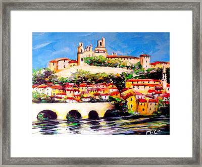 Beziers Reflections Framed Print