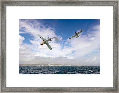 Framed Print featuring the photograph Bf109 Down In The Channel by Gary Eason