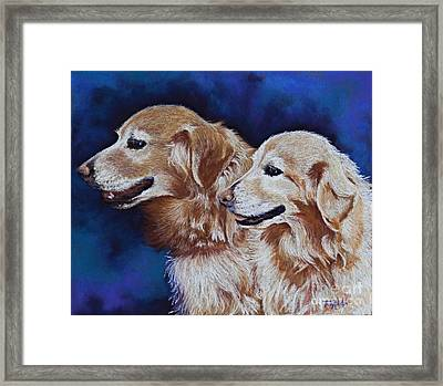 Bff Best Friends Forever Framed Print by Tracy L Teeter