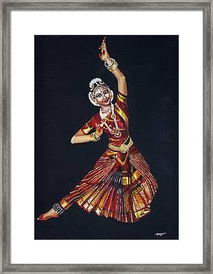 Bharathanatyam Framed Print