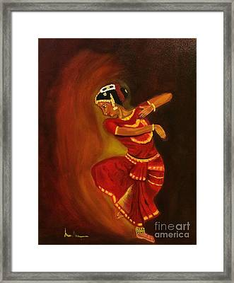 Bharatnatyam Dancer Framed Print by Brindha Naveen