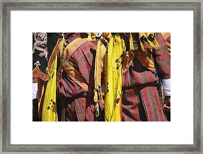 Bhutanese Ceremonial Dress Framed Print by Michael Melford