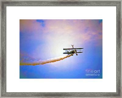 Bi-plane And Wing Walker Framed Print