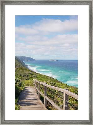 Framed Print featuring the photograph Bibbulmun Track Albany Wind Farm by Ivy Ho