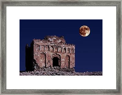Bibi Maryam's Tomb By Moonlight  Framed Print