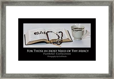 Framed Print featuring the photograph Bible And  Rosary by Cecil Fuselier