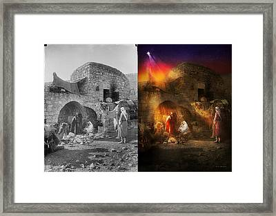 Bible - Jesus - Seeking The Christ Child 1920 - Side By Side Framed Print by Mike Savad