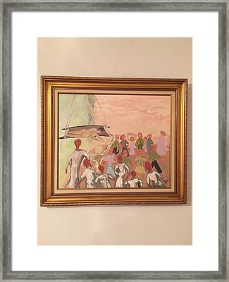 Bible, Story Of Jesus Healing A Paralytic  Framed Print by Art by Tsulah