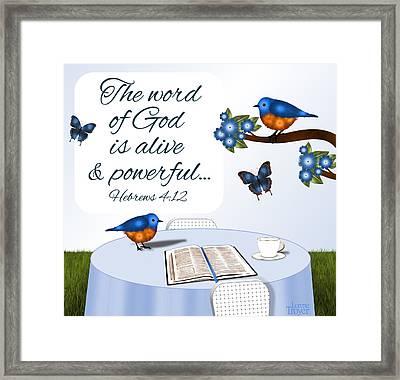 Bible Study Outdoors  Framed Print
