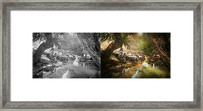 Bible - The Lord Is My Shepherd - 1910 Side By Side Framed Print by Mike Savad