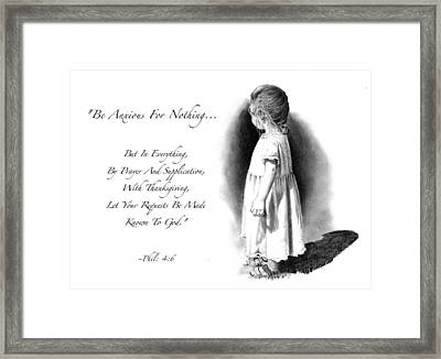Bible Verse With Drawing Of Child Framed Print by Joyce Geleynse