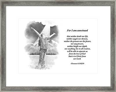 Bible Verse With Pencil Drawing Framed Print by Joyce Geleynse