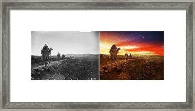 Bible - Wise Men - The Magi Arrive 1920 - Side By Side Framed Print by Mike Savad