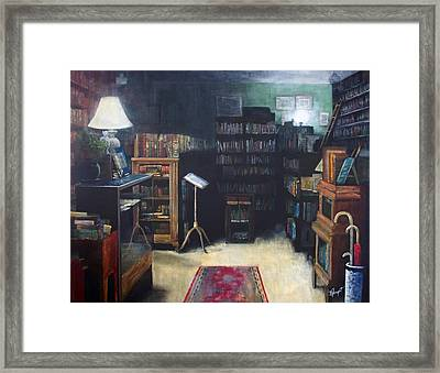 Bibliopoly Framed Print by Victoria Heryet