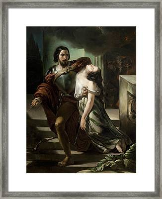 Bice Del Balzo Found By Marco Visconti In The Basement Of Castello Di Rosate Framed Print
