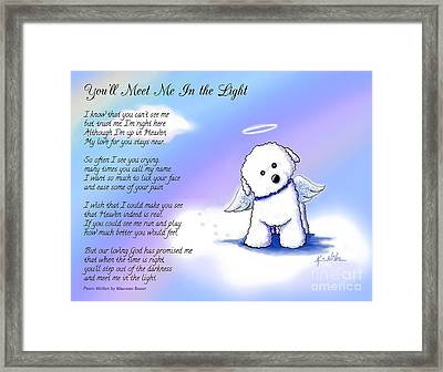 Bichon Frise Angel With Poem Framed Print