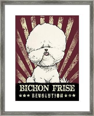 Bichon Frise Revolution Framed Print
