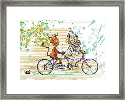 Bicicle Framed Print