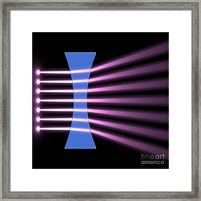 Framed Print featuring the digital art Biconcave Lens 2 by Russell Kightley