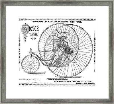 Bicycle, 1884 Framed Print by Granger