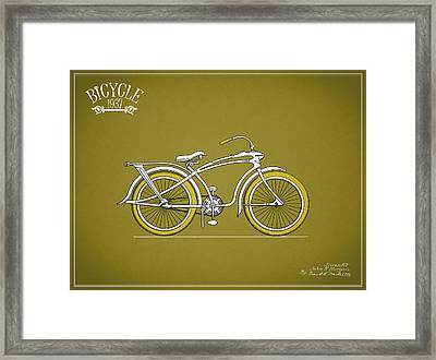 Bicycle 1937 Framed Print by Mark Rogan