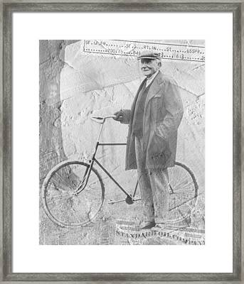 Bicycle And Jd Rockefeller Vintage Photo Art Framed Print by Karla Beatty