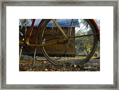 Bicycle At Micanopy Framed Print