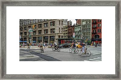 Bicycle Ballet  Framed Print by Jeffrey Friedkin