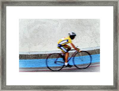 Bicycle Blur Framed Print by Jim DeLillo