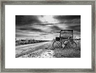 Bicycle Break Framed Print