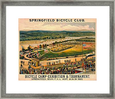 Framed Print featuring the photograph Bicycle Camp 1883 by Padre Art