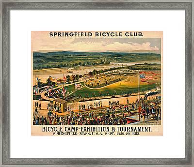 Bicycle Camp 1883 Framed Print
