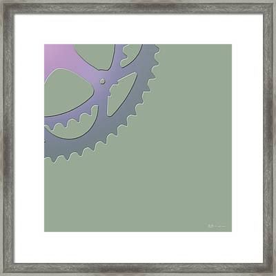 Bicycle Chain Ring On Van Alen Green - 4 Of 4 Framed Print by Serge Averbukh