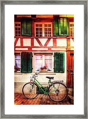 Bicycle Charm Framed Print by Debra and Dave Vanderlaan