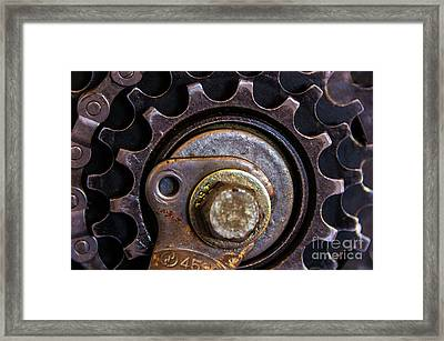 Bicycle Cog Chain Gear Framed Print