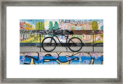 Bicycle Graffiti Framed Print by Christos Koudellaris
