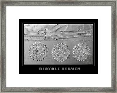 Bicycle Heaven Gears Framed Print by Eclectic Art Photos