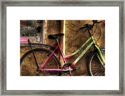 Bicycle In Trastevere Framed Print by Brian Thomson