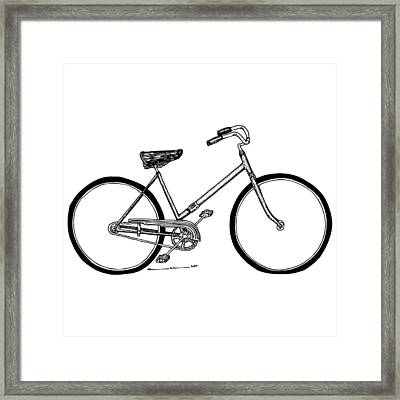 Bicycle Framed Print by Karl Addison