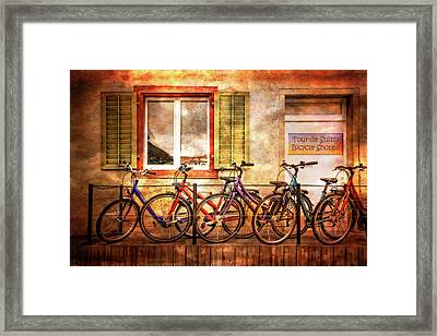 Bicycle Line-up Framed Print
