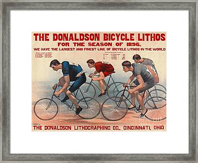 Framed Print featuring the photograph Bicycle Lithos Ad 1896 by Padre Art