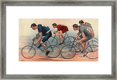 Bicycle Lithos Ad 1896nt Framed Print